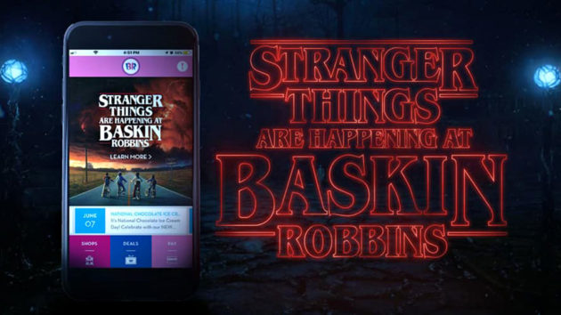 Baskin-Robbins Stranger Things Ice Cream