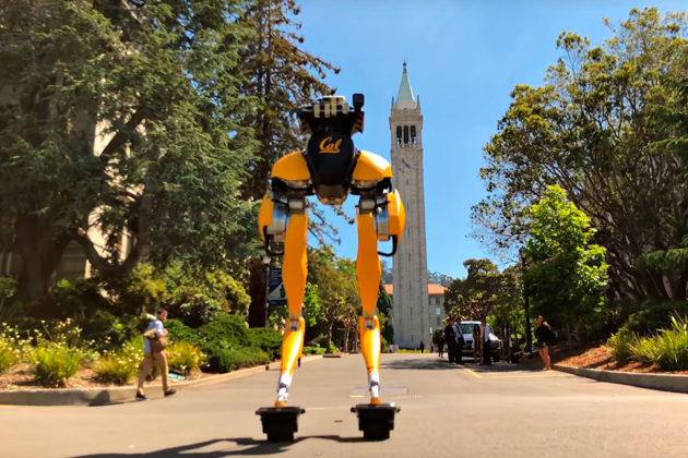 Cassie Bipedal Robot On Hovershoes