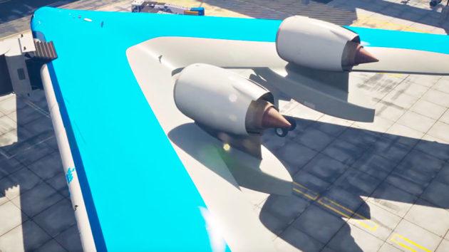 Concept KLM Flying-V Passenger Jet