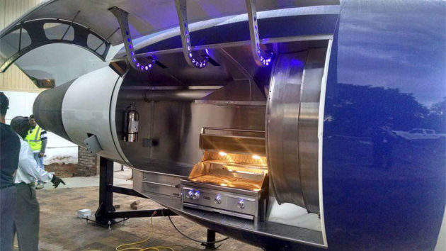 Custom Aircraft Engine BBQ Grill