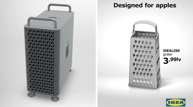 IKEA Poked Fun At The New Apple Mac Pro With A $2.30 Grater
