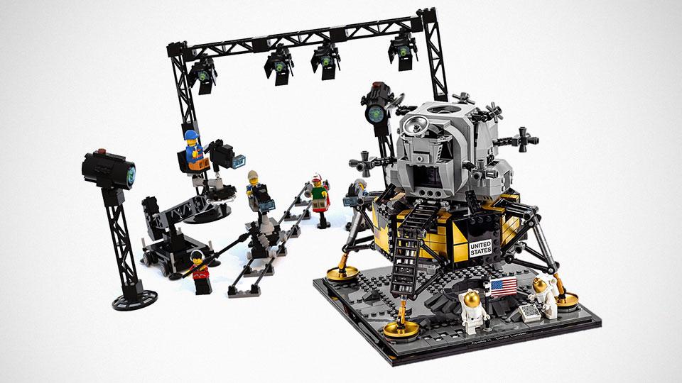 LEGO Moon Landing Conspiracy Setup