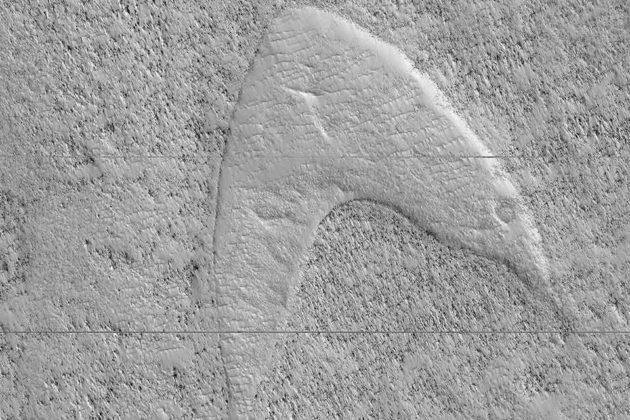 Star Trek Starfleet Insignia on Mars