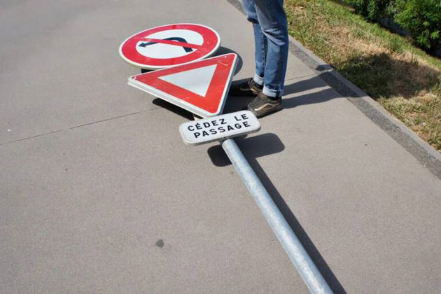 Street Signpost Skateboard by Benedetto Bufalino
