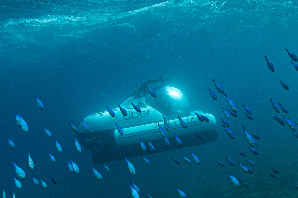 Uber scUber Ride-sharing Submarine