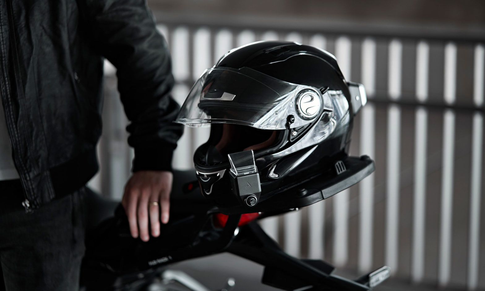 Dual Camera AR Attachment for Motorcycle Helmet