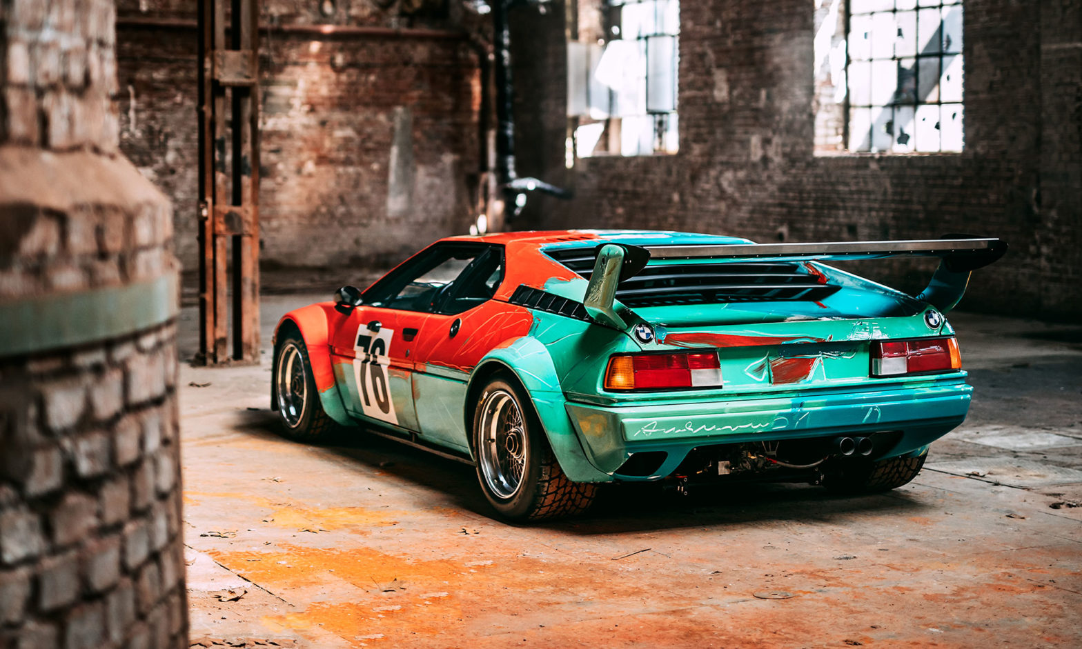 BMW Art Car Number 4 by Warhol Design
