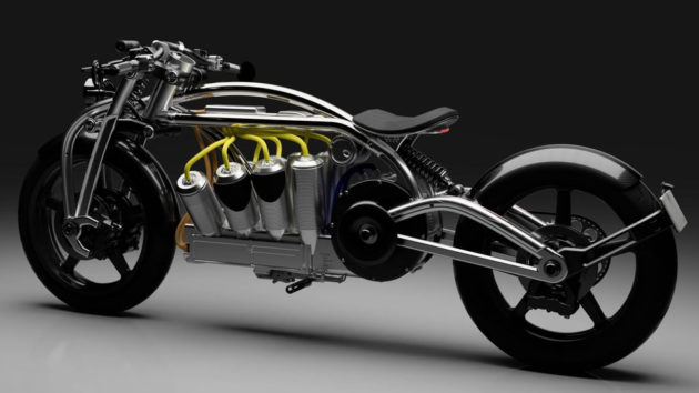 Curtiss Zeus Radial V8 Electric Motorcycle