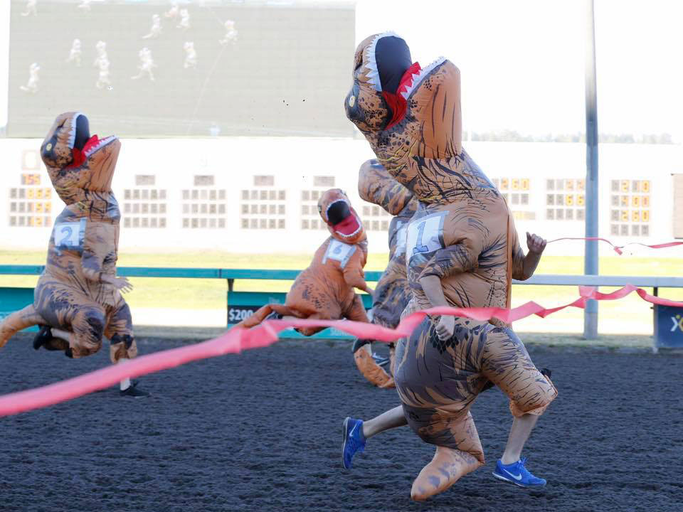 Emerald Downs Racetrack T-Rex Races