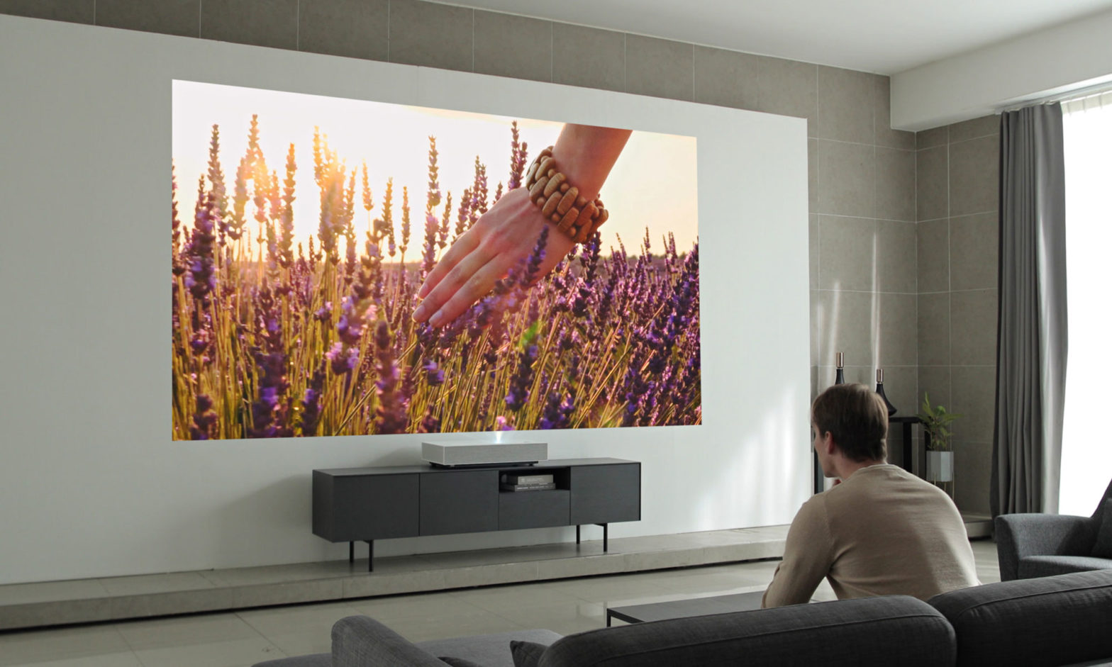LG CineBeam AI ThinQ 4K Laser Projector