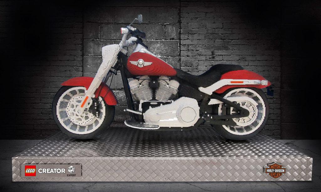 Life-size LEGO Creator-Expert Harley-Davidson Fat Boy