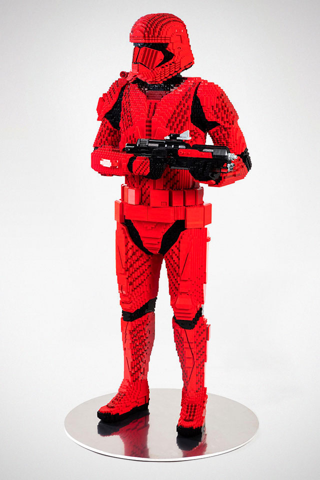 Life-size Star Wars Sith Trooper Sculpture
