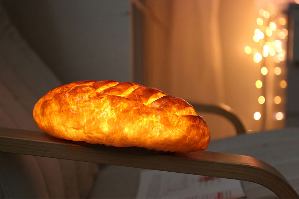 Night Light Made of Real Bread