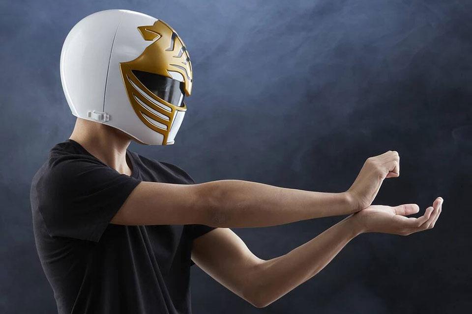 Power Rangers Lighting Collection Mighty Morphin White Ranger Helmet