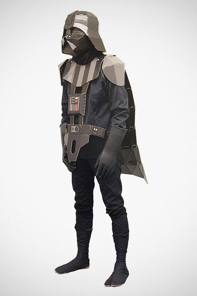 Showa Note Cardboard Darth Vader Costume