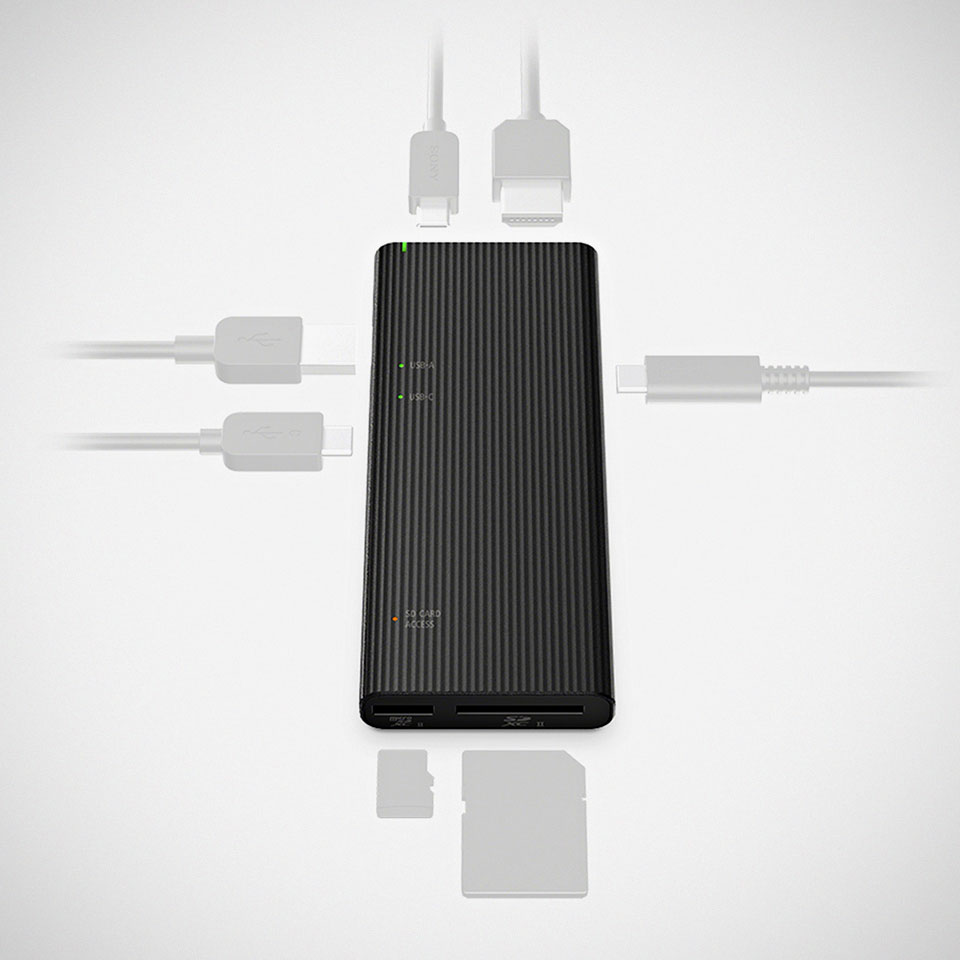 Sony MRW-S3 USB Hub Card Reader