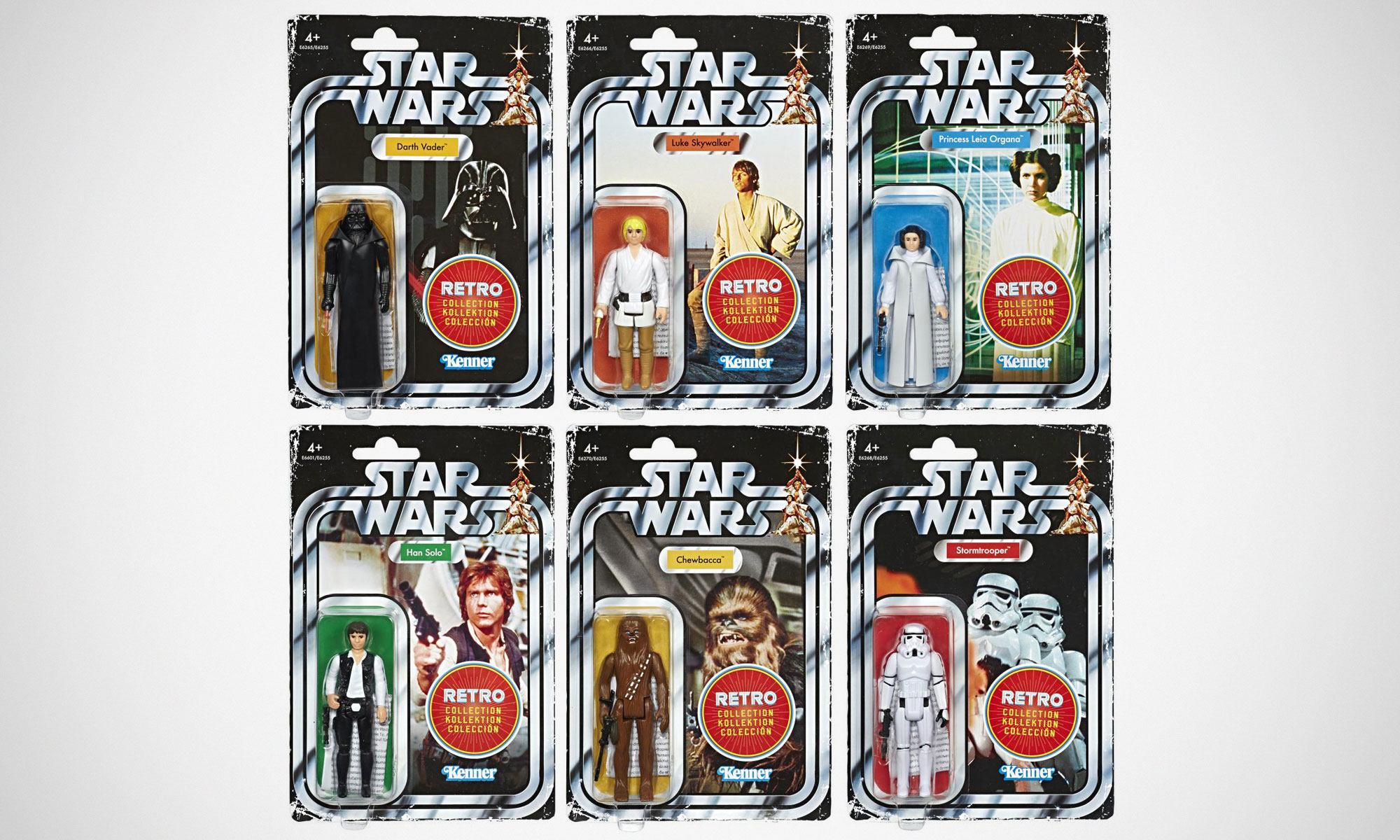 Star Wars Rétro Collection WAVE 1 set Vader han luke leia Stormtrooper Chewbacca