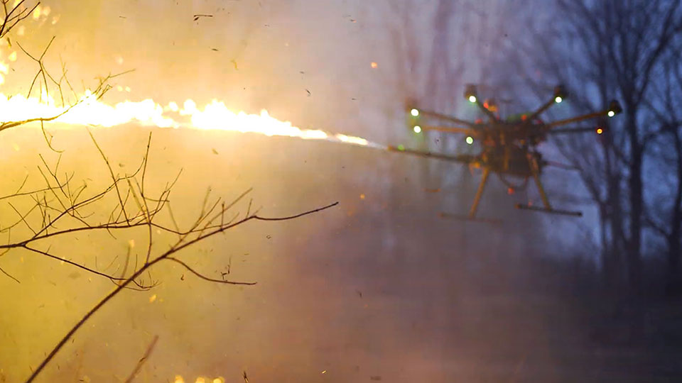 TF-19 Wasp Flamethrower Drone Attachment