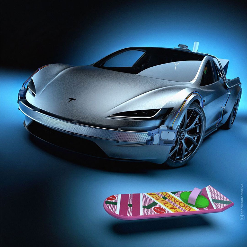 Tesla SpaceX Package Concept Car