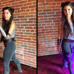 """""""Bionic Actress"""" Cosplay As """"Jedi Leia"""", Replaces Prosthetic Arm With A Lightsaber Attachment"""