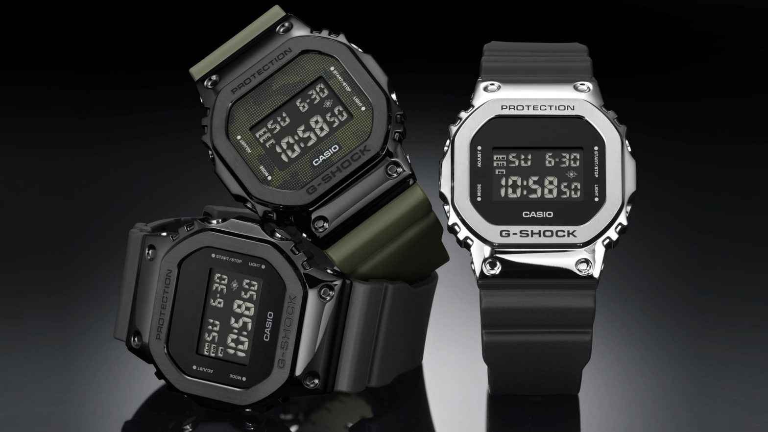 CASIO G-Shock 5600 Stainless Steel Bezel