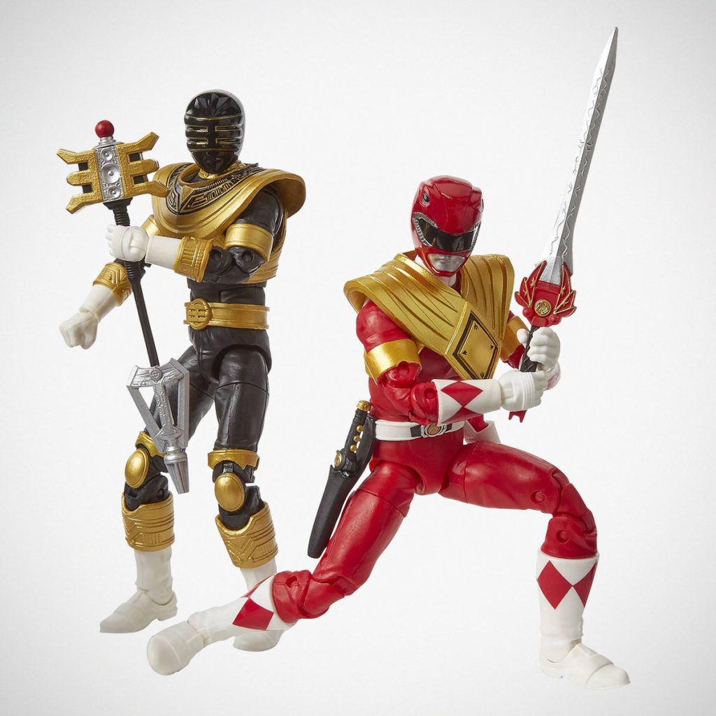 Hasbro Power Rangers Red and Gold Figures