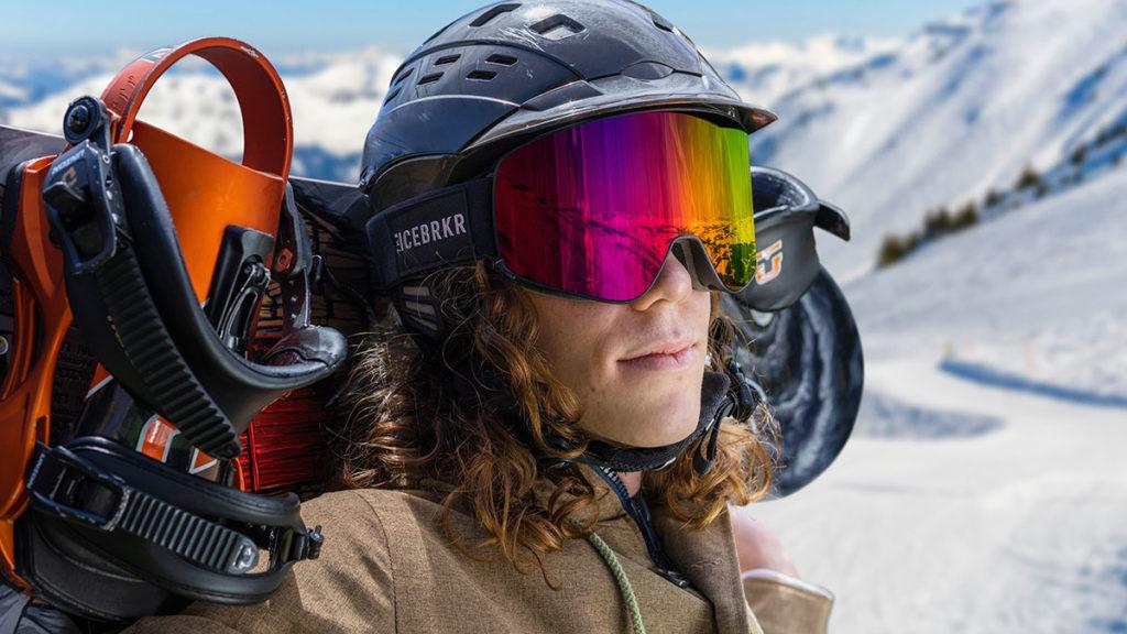 IceBRKR Bone Conduction Audio Ski Goggles