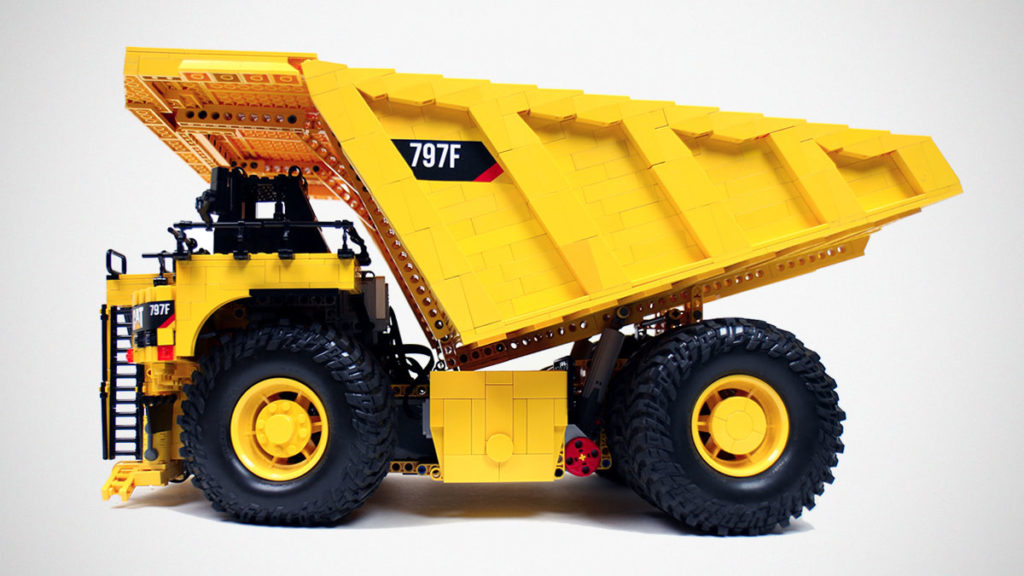 LEGO RC Caterpillar 797F Dump Truck by Sariel