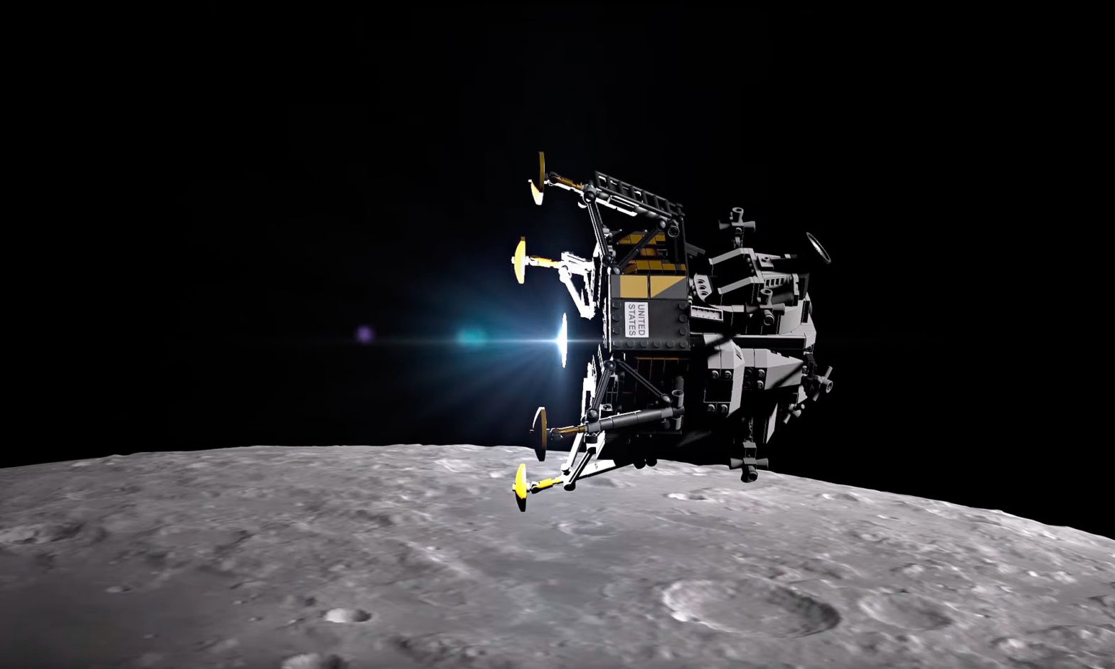 Lunar Landing Recreated with LEGO 10266
