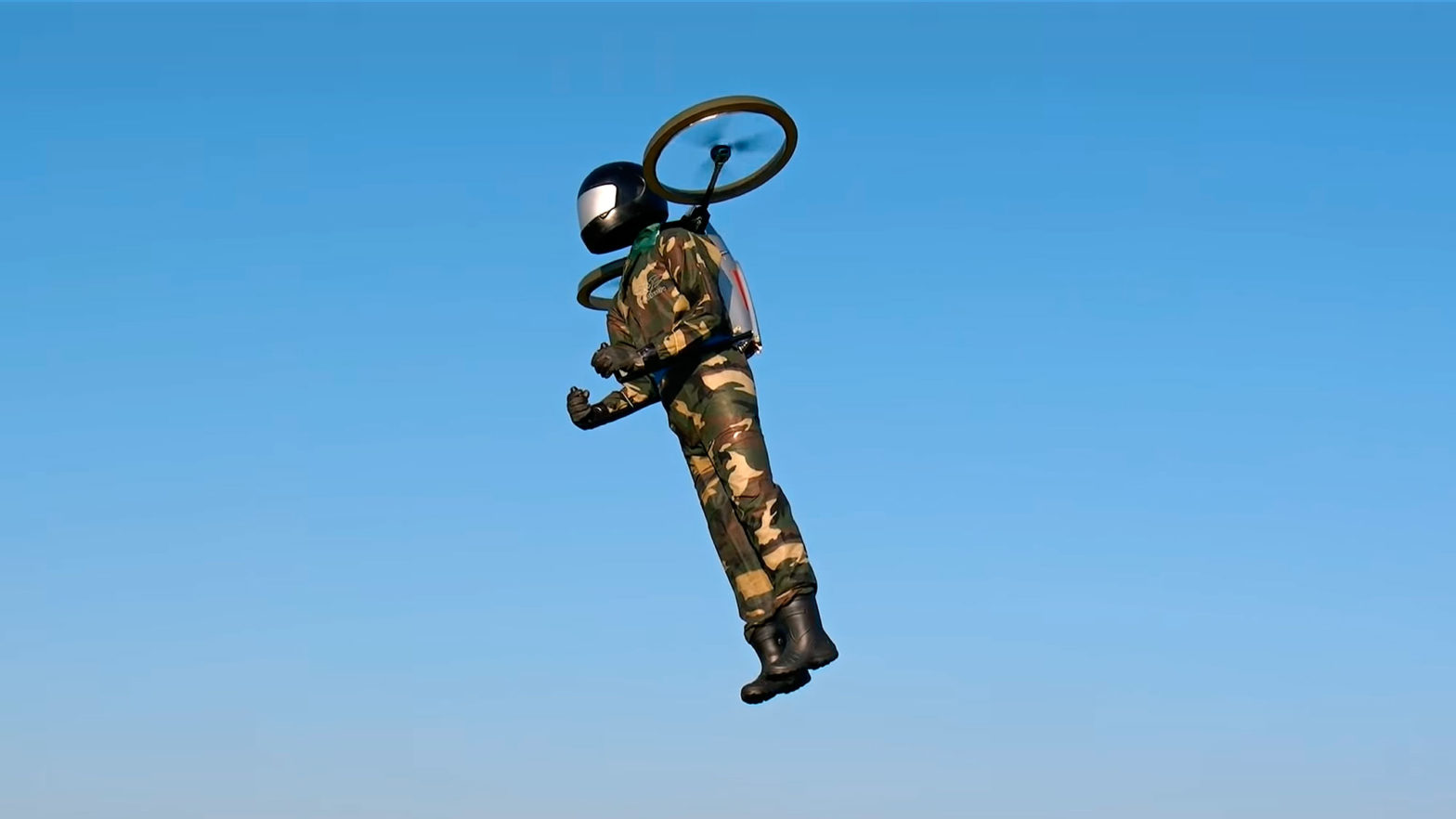RC Flying Man In 1:1 Scale