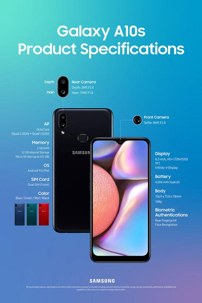 Samsung Galaxy A10s Smartphone