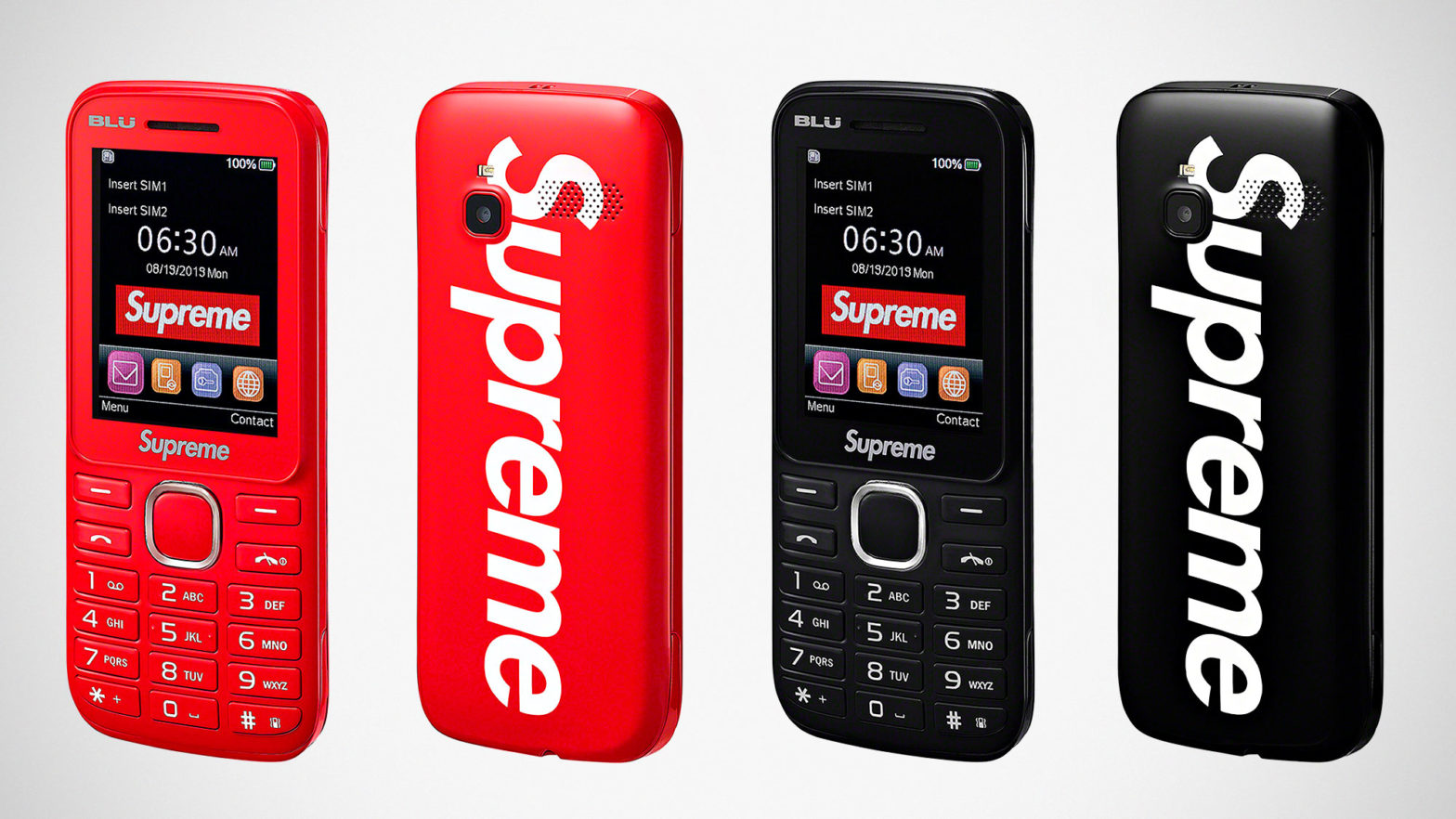 Supreme x BLU Burner Phone