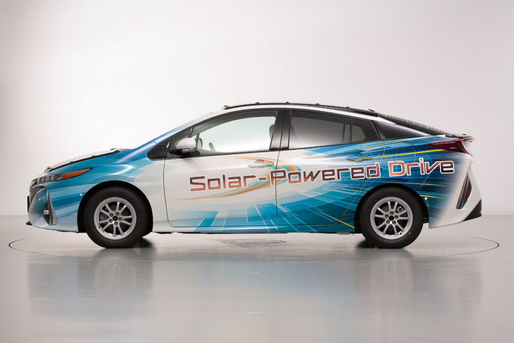 Toyota Solar-Powered Prius Being Tested