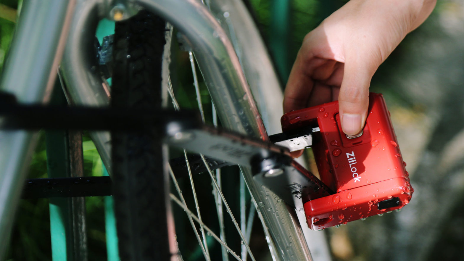 ZiiLock Foldable Biometric Keyless Bike Lock