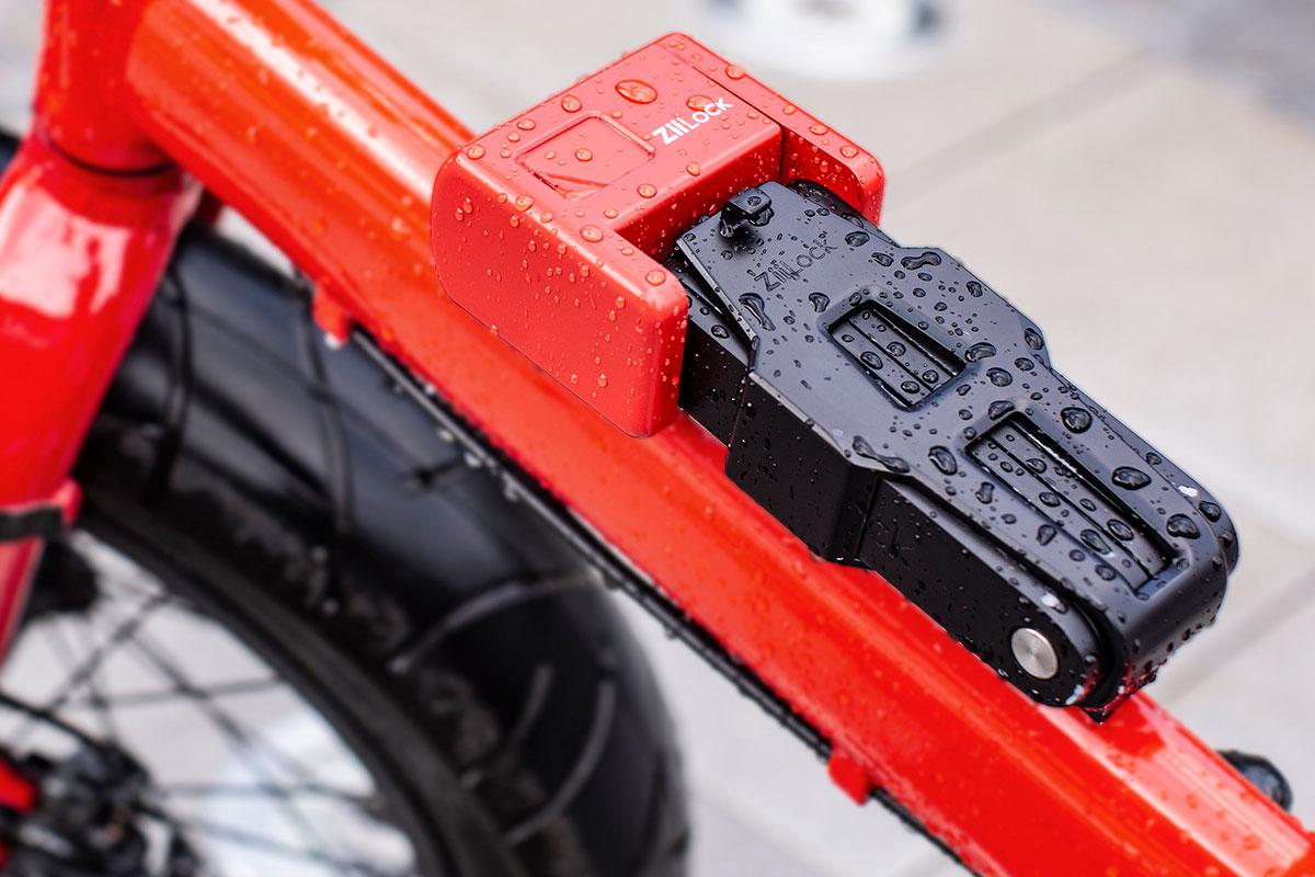 ZiiLock Foldable Biometric Keyless Bike Lock