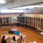 Japanese Students Built An Indoor Roller Coaster Out Of Wood And School Desks