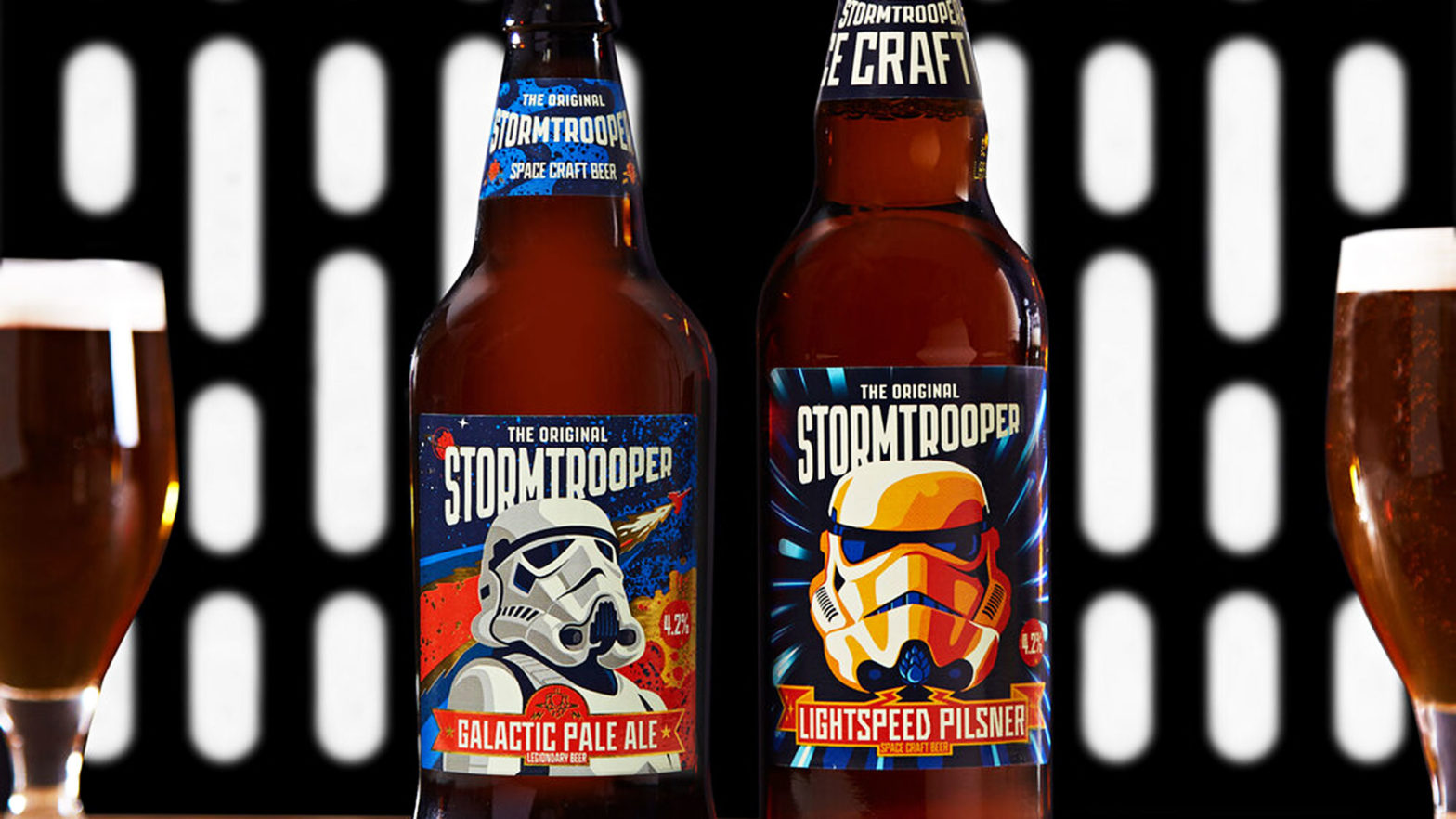 Galactic Pale Ale and Lightspeed Pilsner