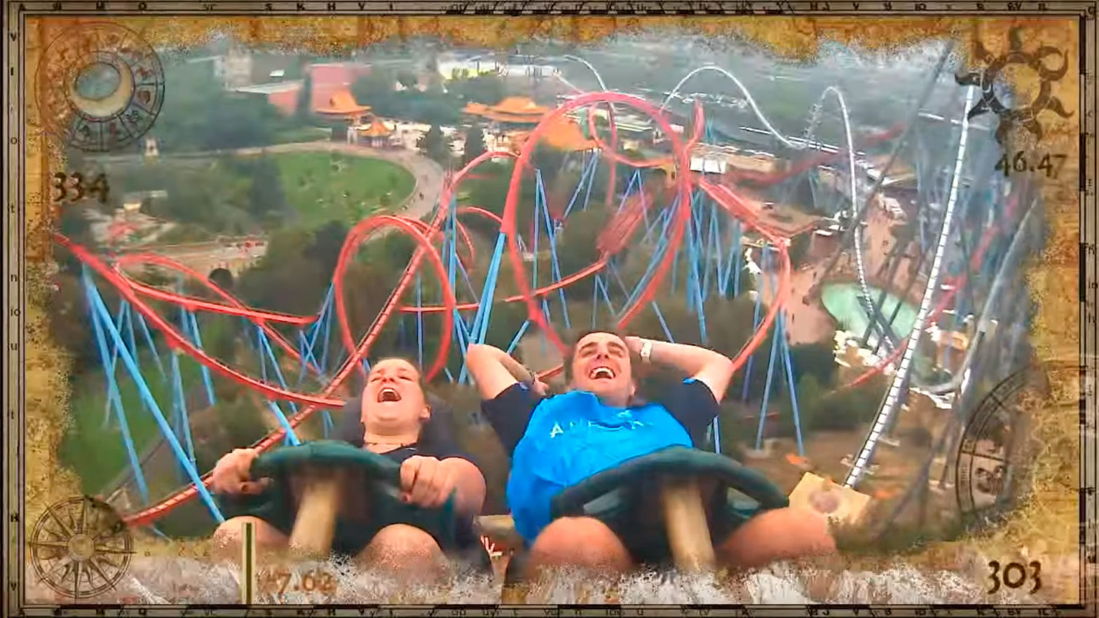 Man Catches Phone Mid-air On Roller Coaster