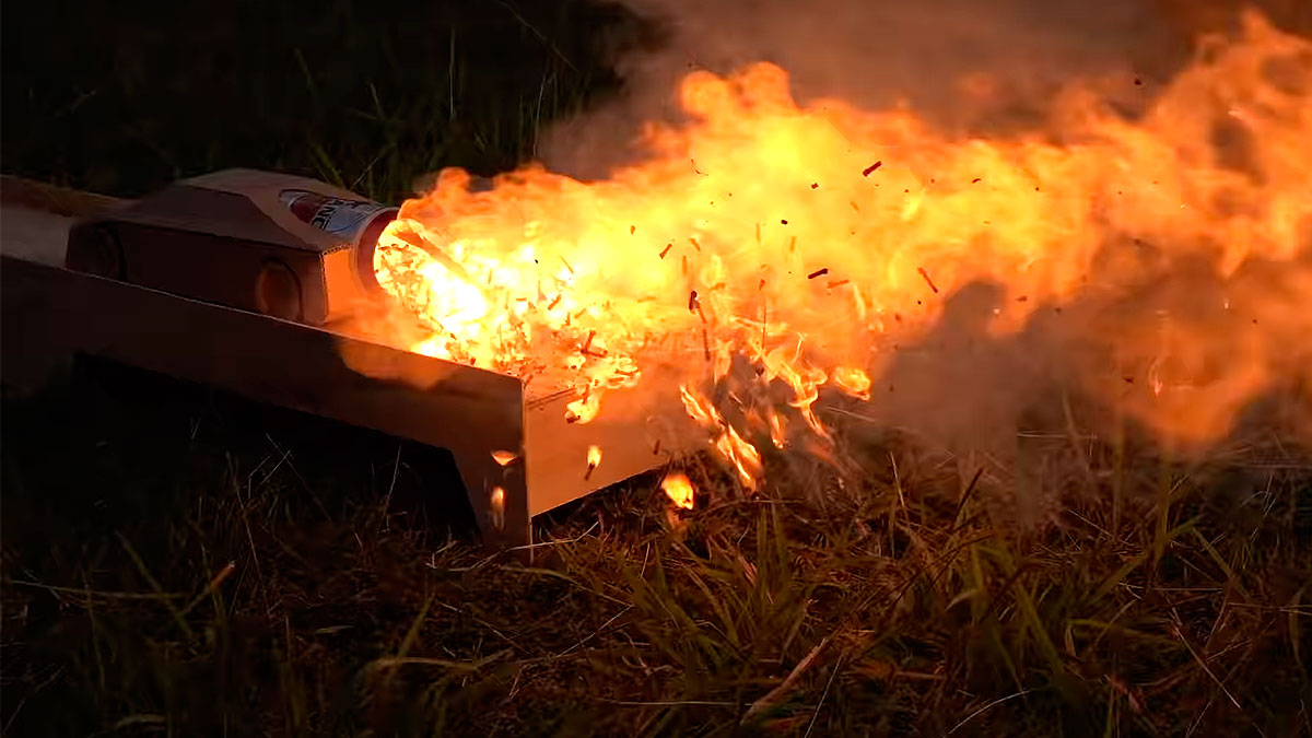 Matches Powered Cardboard Jet Car