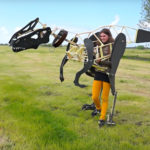 Teenage Student Designed And Made A Crazy Life-like Mechanical Dinosaur Costume