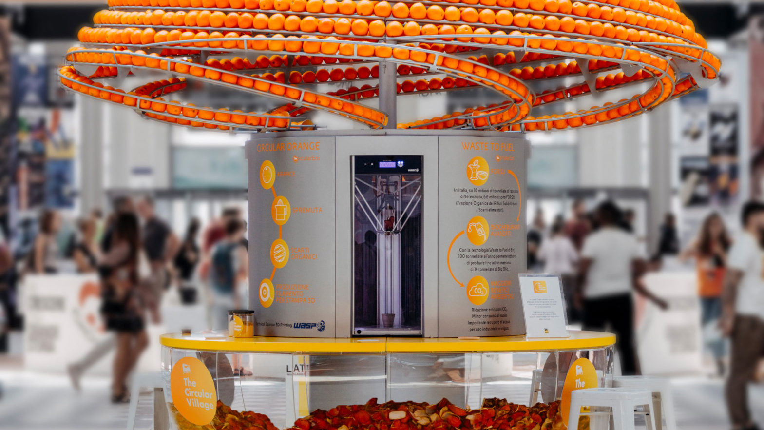 Orange Juce Machine 3D Prints Cups