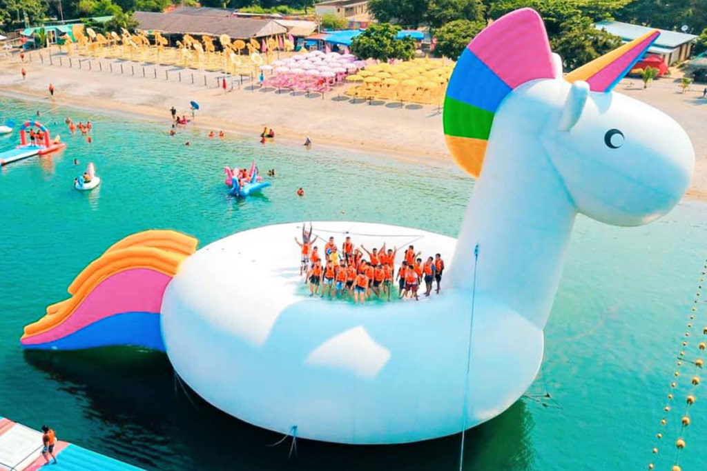 The Giant Unicorn Float Party