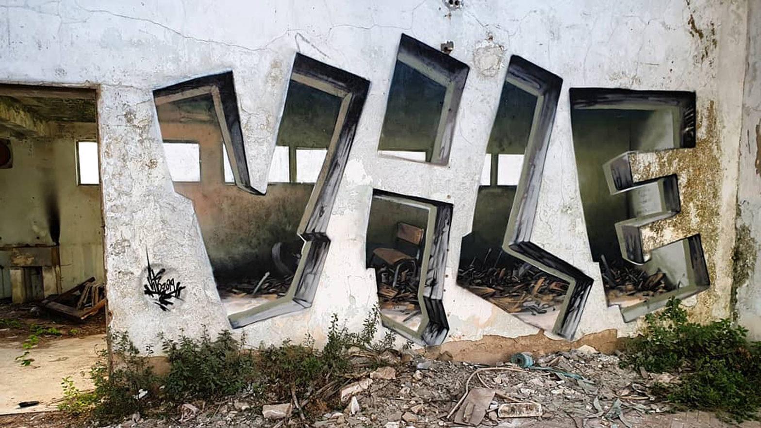 Vile Cut-through Graffiti Art