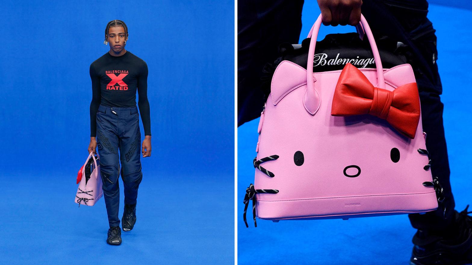 Balenciaga Hello Kitty Handbags for Men