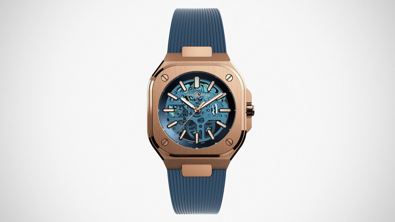 Bell & Ross BR 05 Skeleton Gold Blue
