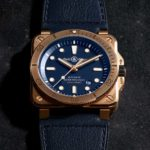 Bell & Ross BR03-92 Diver Bronze Navy Blue Pays Homage To Diving With Bronze Case