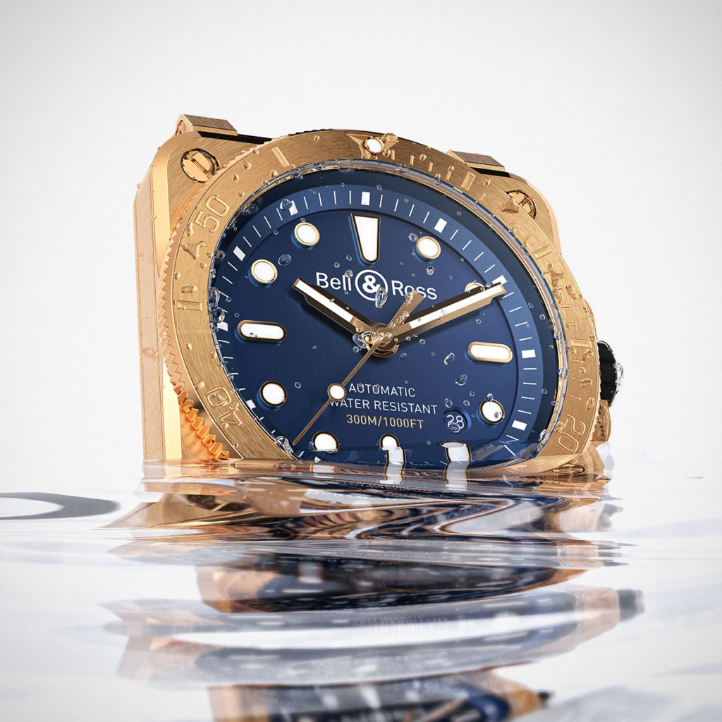 Bell & Ross BR03-92 Diver Bronze Navy Blue