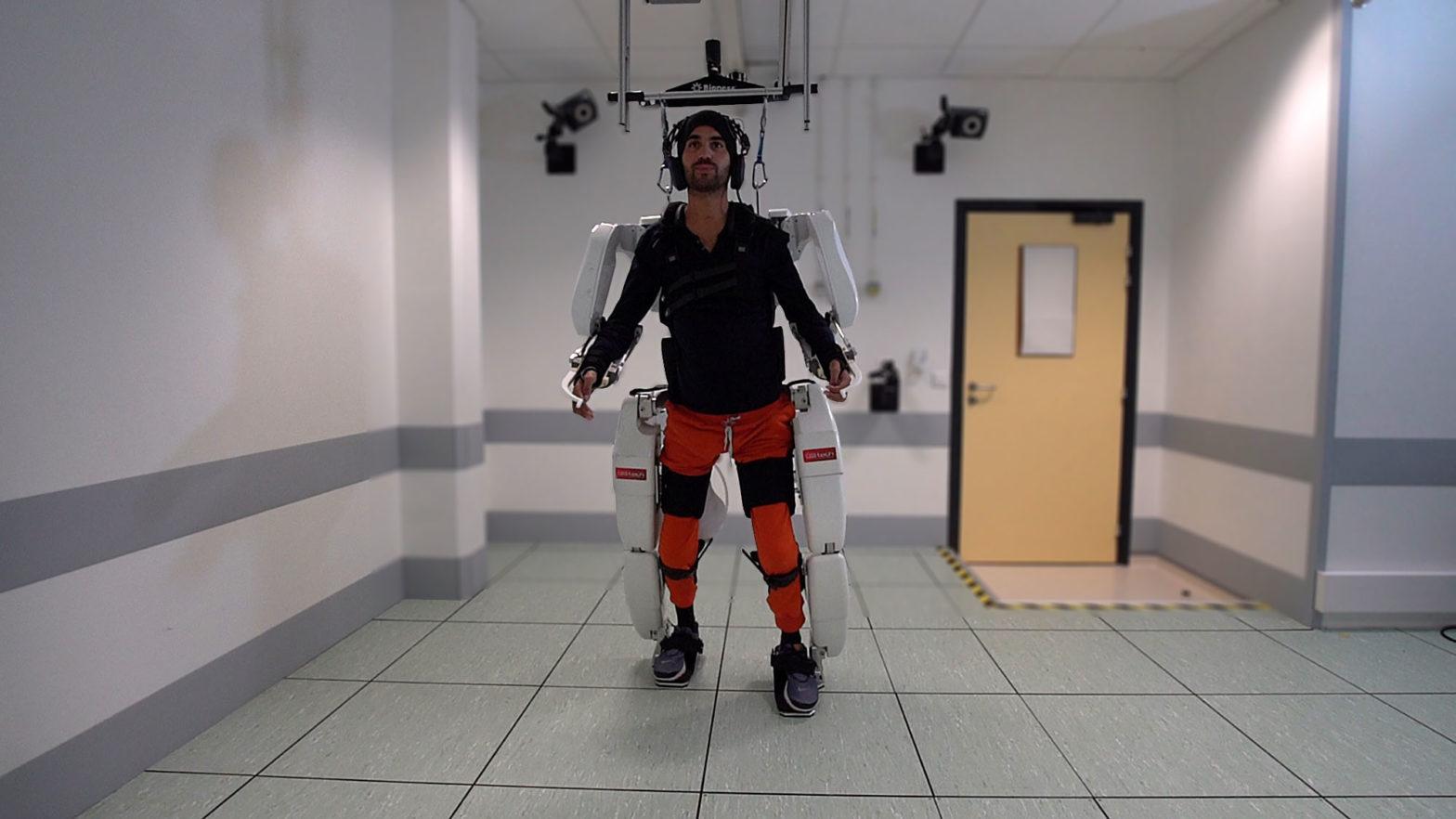 Brain-controlled Exoskeleton Demoed