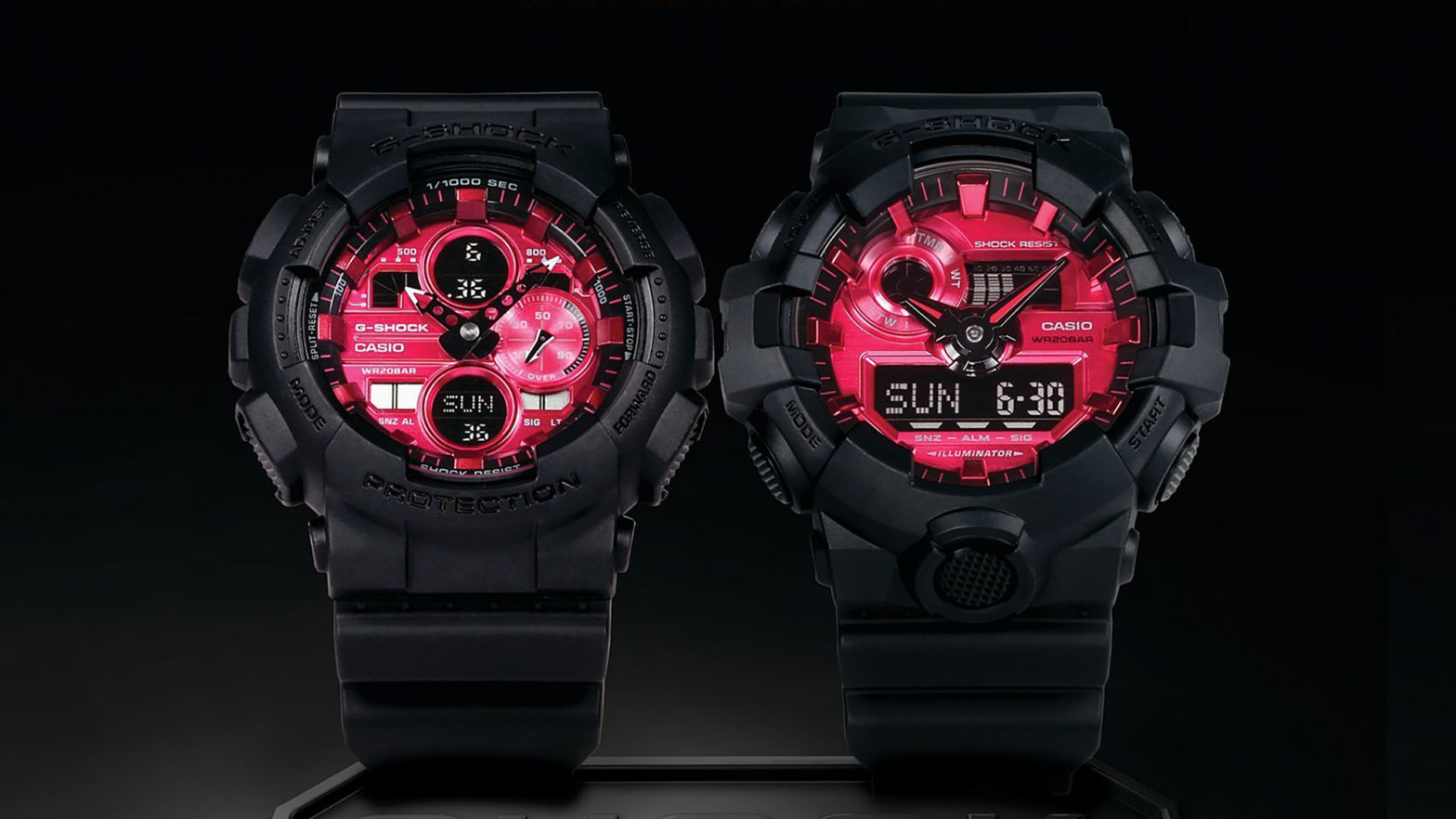 Casio G-Shock Adrenalin Red Series Watches