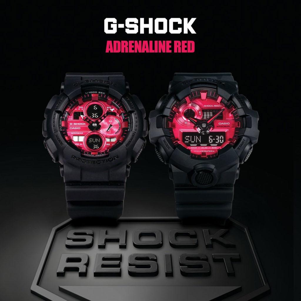 Casio G-Shock Adrenalin Red Series Watches